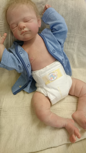 Josh,  reborn baby doll with chest plate.
